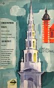 1957 London Transport double-royal POSTER 'Christopher Wren' by Hans Unger (1915-1975) who