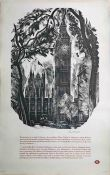 1959 London Transport double-royal POSTER 'Westminster' based on a wood engraving by John