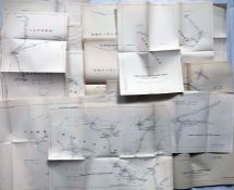 Quantity (49) of 1930s London Transport TRAM & TROLLEYBUS MILEAGE MAPS for various locations