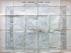 1905 MAP of the Electric Railways in the Metropolis and Neighbourhood prepared for the Royal