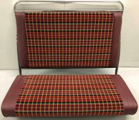 BUS SEAT UNIT comprising frame, cushion and squab (no legs). The cushion and squab have been