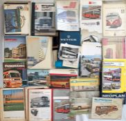 Very large quantity (100++) of Bus & Coach MANUFACTURERS' BROCHURES, PRESS PACKS & SPECIFICATION