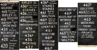 London Country (London Transport-manufactured) DESTINATION BLIND for an RF (also fits SM) from