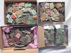 Very large quantity (3,300+) of RAILWAY TICKETS, all are severed-half Edmondsons, comprising pre-