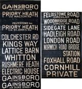 1950s/60s Ipswich Corporation DESTINATION BLIND. A complete, linen blind, in good, well-used