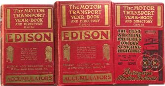 3 x 1920s/30s issues of Garcke's MOTOR TRANSPORT YEAR-BOOK & DIRECTORY, the 'bible' of the bus