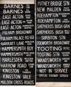 London Transport DESTINATION BLIND for a DMS Fleetline from Shepherds Bush (S) garage dated 23.12.82