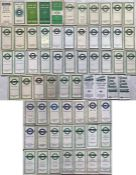Large quantity (64) of 1930s-70s London Transport POCKETS MAPS comprising Green Line x 43 and