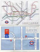 Special edition of the London Underground diagrammatic POCKET MAP, a paper version of the Garbutt