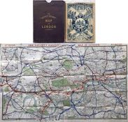 c1892 District Railway Map of London, 5th edition (1st version). It shows the the world's first