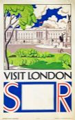 1930 Southern Railway double-royal POSTER 'Visit London' by 'F B' (unknown artist) with a
