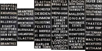 1960s/70s Eastern National Omnibus Co DESTINATION BLIND. A lengthy blind which includes the
