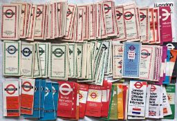 Large quantity (120+) of 1950s-70s London Transport POCKET MAPS including Central Bus, Country