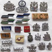 Quantity (25) of 1950s-70s bus UNIFORM BADGES (driver, conductor, inspector etc) from a wide range