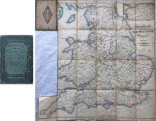 c1845 Cheffins's Map of the Railways in England and Scotland, 4th edition. Linen-backed, opens out