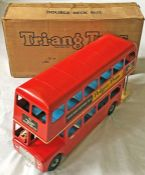 c1960 Tri-ang tinplate, large-scale London Transport Routemaster double-deck MODEL BUS from the