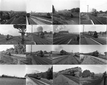 Quantity (c100) of 1940s/50s b&w STEAM RAILWAY NEGATIVES (120-size, 6cm x 6cm & 6cm x 4.5cm) taken