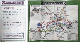 Special issue of the 1909 London Underground POCKET MAP 'What to See and How to See it, The