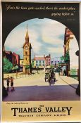 Late 1940s/early 1950s Thames Valley Traction Co double-crown POSTER 'Enjoy the Riches of Britain'