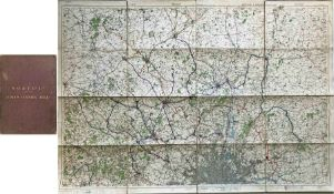c1930 National Omnibus & Transport Co Ltd MAP of the LONDON COUNTRY AREA. Linen-backed inside