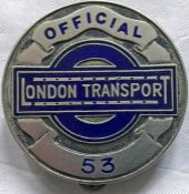1930s London Transport Central Buses OFFICIALS' PLATE as issued to senior staff when required to