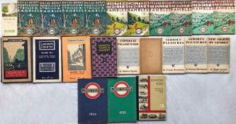 Quantity (23) of 1920s/30s London Underground/London Transport GUIDEBOOKS & PUBLICITY including