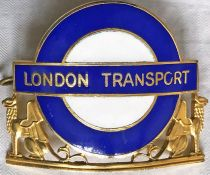 London Transport Central Buses Divisional Mechanical Inspectors' CAP BADGE. From 1984, this is an