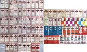Large quantity (100) of 1930s-1970s London Transport POCKET MAPS comprising Central Buses x 58,