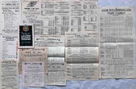 Selection (10) of 1920s-40s BUS & TRAM HANDBILLS comprising Leicester City Tramways 1925 'Coming