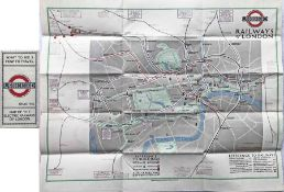 """1924 London Underground POCKET MAP of the Electric Railways of London """"What to see and how to"""