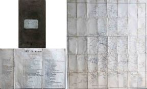 """Railway Map for Parliamentary Session 1862. A GWR copy, with """"Railway Map Session 1862"""" in ink on"""