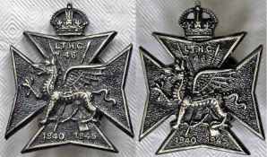 Pair of WW2 London Transport HOME GUARD LAPEL BADGES issued to staff who served in the 46th