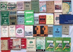 Quantity (37) of 1940s-60s BUS TIMETABLE etc BOOKLETS for various operators including Aldershot &