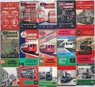 Selection (15) of 1944-1964 IAN ALLAN ABCs of London Transport Trams & Trolleybuses, Buses & Coaches