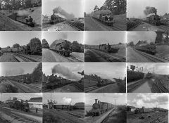Quantity (c100) of 1940s/50s b&w STEAM RAILWAY NEGATIVES (120-size, 6cm x 4.5cm) taken by the