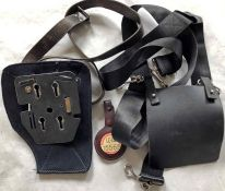 Bus items (3) comprising a London Transport Gibson ticket-machine HARNESS and a Setright ticket-