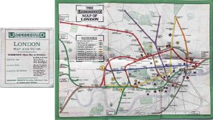 1911 London Underground POCKET MAP. Shows the CLR extension to Liverpool St under construction,