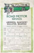 1929 London & North Eastern Railway (LNER) double-royal POSTER 'Road Motor Services' illustrated