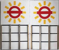 London Transport enamel BUS STOP FLAG specially designed and produced for the LT Round London