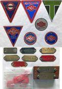 Selection (24 items) of London Transport, AEC etc BUS RADIATOR TRIANGLES, HUB-PLATES, brass BODY/