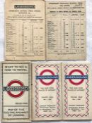 Small selection (5) of London Underground items comprising 2 x 1924 (April & July) City & South