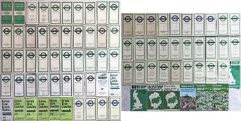 Large quantity (86) of 1930s-70s London Transport POCKETS MAPS comprising Green Line x 46 and