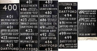 London Country DESTINATION BLIND for an SMS (also fits RF) at Dartford (DT) garage dated 3/78. A