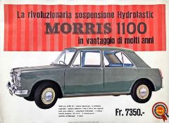 Mid-1960s British Motor Corporation (BMC) POSTER for the Morris 1100, the then revolutionary new car