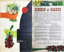 1954 London Transport PAIR POSTER (2 x double-royal posters) 'Common or Garden' by Edwin Tatum (