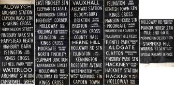 London Transport DESTINATION BLIND for a DM Fleetline from Highgate (now Holloway) (HT) garage dated