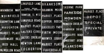 c1960s/70s Darlington Corporation DESTINATION BLIND. A lengthy, complete blind in very good, ex-
