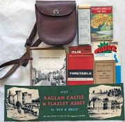 Box of Red & White Services MEMORABILIA from the 1940s onwards comprising timetables, conductor's