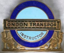 London Transport Central Buses Senior (driving) Instructors' CAP BADGE. This is the late 1960s issue