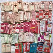 Very large quantity (approx 270) of 1930s-80s (most are 1950s-70s) London Transport POCKET MAPS. The